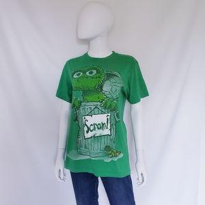 Sesame Street Oscar The Grouch Scram Tshirt